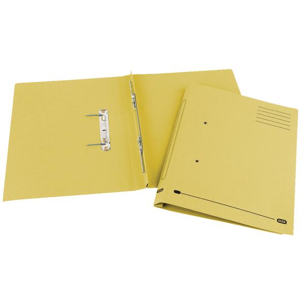 Elba Spirosort Spring Files Foolscap Yellow (Pack of 25) 100090163