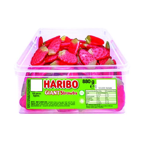 Haribo Giant Strawbs (120 Sweet) Drum 9547