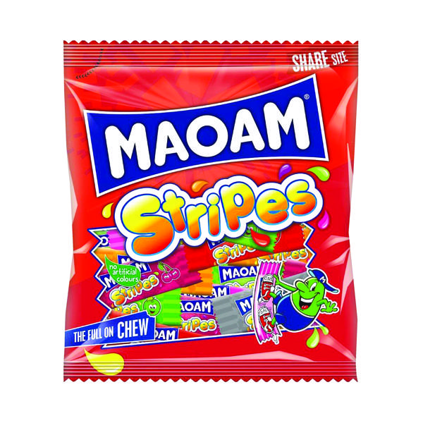 Maoam Stripes Share Size Bag 140g  (Pack of 12) 580730