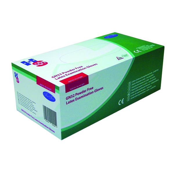 Handsafe Powder-Free Natural Large Latex Gloves (Pack of 100) GN32