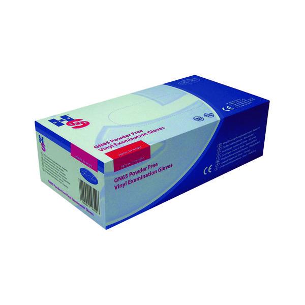 Handsafe Powder-Free Clear Medium Vinyl Gloves (Pack of 1000) HEA00313