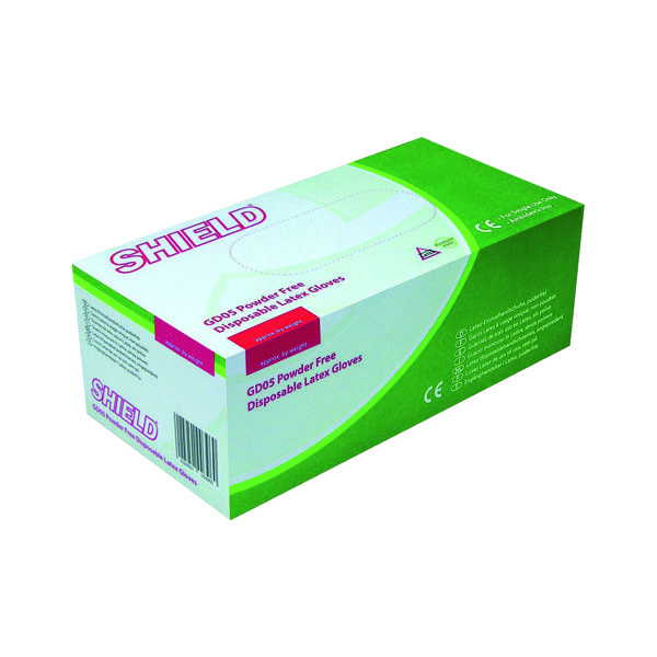 Shield P/F Latex Gloves Small (Pack of 1000) HEA00397