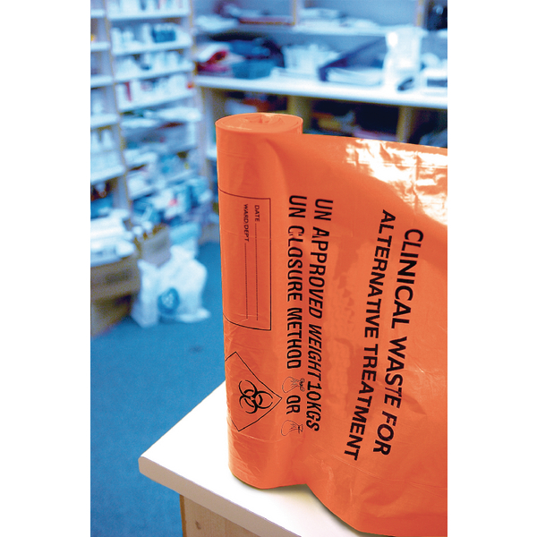 Clinical Waste Sack Heavy Duty Orange (Pack of 100) AT25/M085