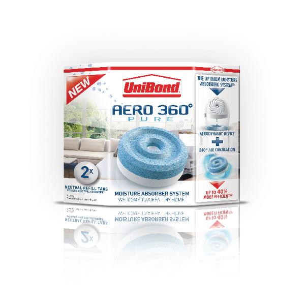 UniBond Aero 360 Moisture Absorber Large Refill (Pack of 2) 1554715