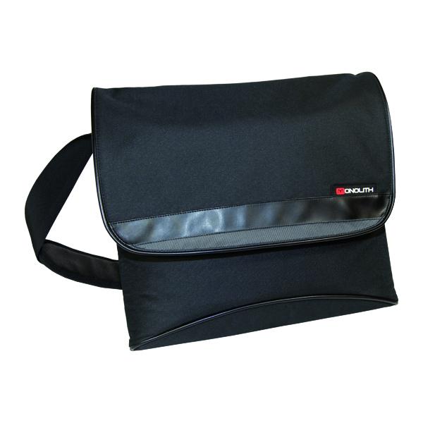 Monolith Nylon Laptop Messenger Bag Black 2386
