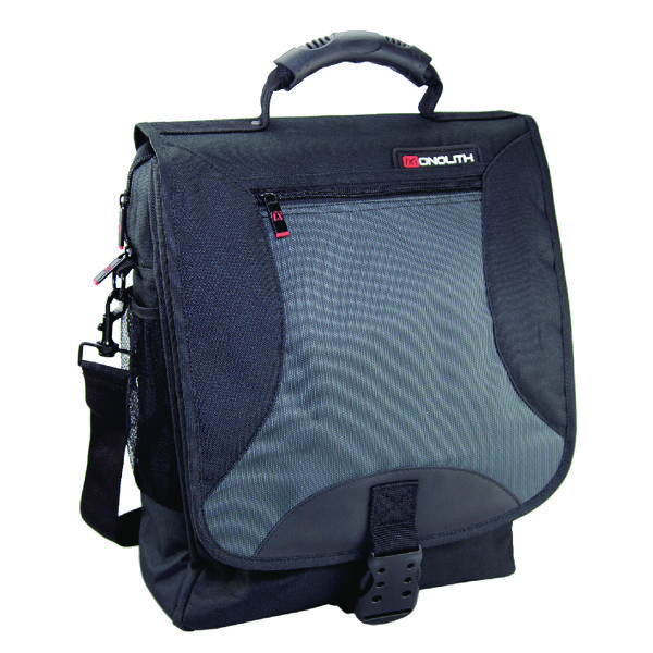Monolith Multifunctional Nylon Laptop Backpack Black and Grey 2399