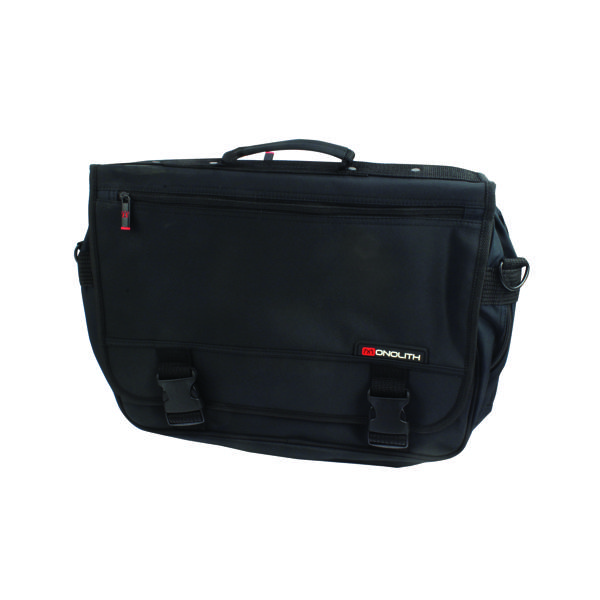 Monolith Microfibre Soft Sided Briefcase Black 3192
