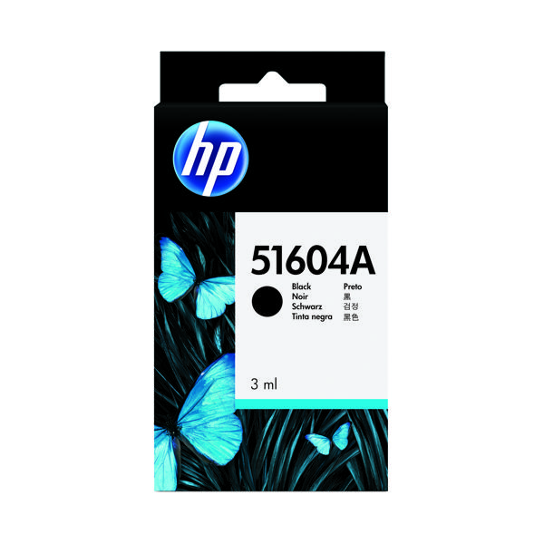 HP Black Inkjet Cartridge (3ml, 750,000 Characters Yield) 51604A