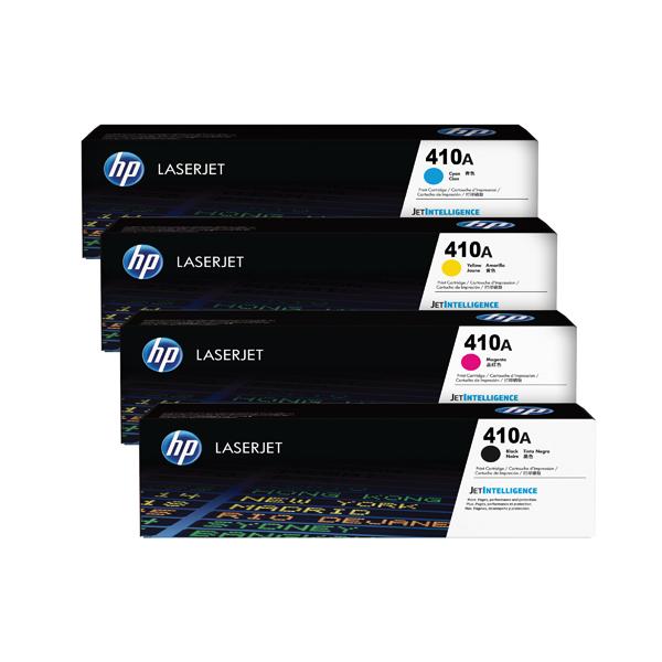 HP 410 Toner Cartridge Bundle Cyan/Magenta/Yellow/Black (Pack of 4) HP815968