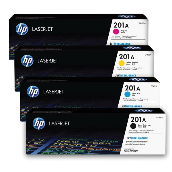 HP 201 Toner Cartridge Bundle Cyan/Magenta/Yellow/Black (Pack of 4) HP815969