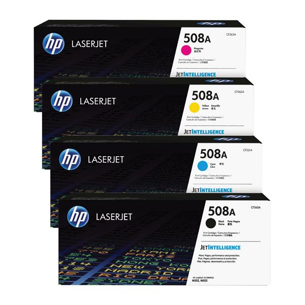 HP 508 Toner Cartridge Bundle Cyan/Magenta/Yellow/Black (Pack of 4) HP815970
