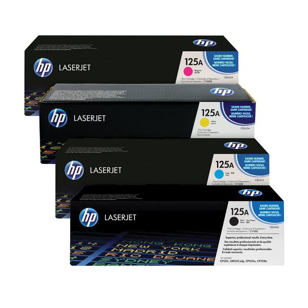 HP 125A Toner Cartridge Bundle Cyan/Magenta/Yellow/Black (Pack of 4) HP815973