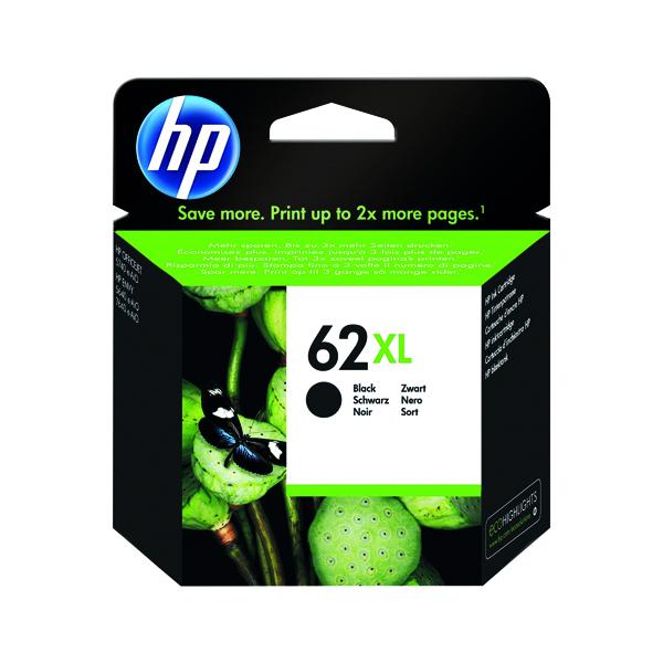 HP 62XL Black Ink Cartridge (High Yield, 600 Page Capacity) C2P05AE
