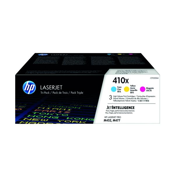 HP 410X High Yield Cyan Magenta Yellow Laserjet Toner Cartridges (Pack of 3) CF252XM