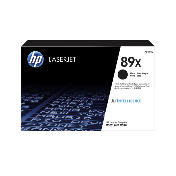 HP 89X Black LaserJet Toner Cartridge CF289X