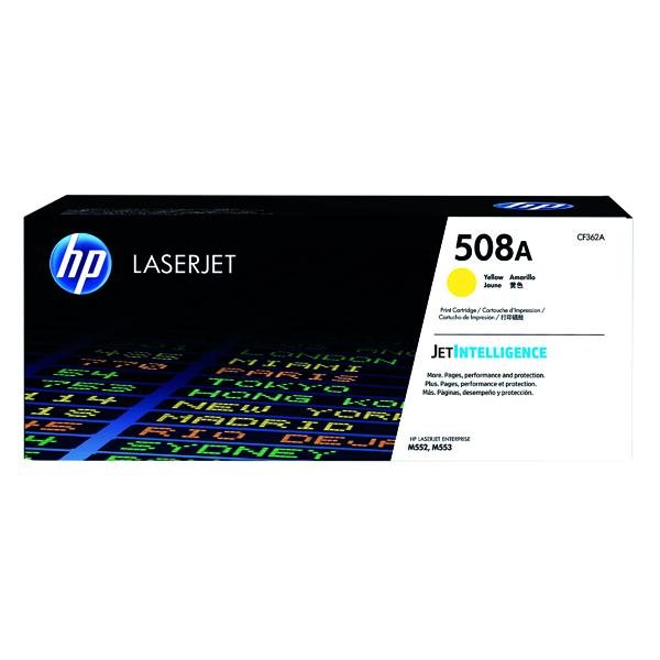 HP 508A Yellow Laserjet Toner Cartridge CF362A