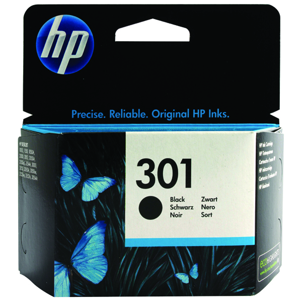 HP 301 Black Ink Cartridge Standard Yield 3ml CH561EE