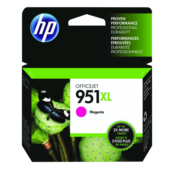 HP 951XL Magenta Officejet Inkjet Cartridge CN047AE