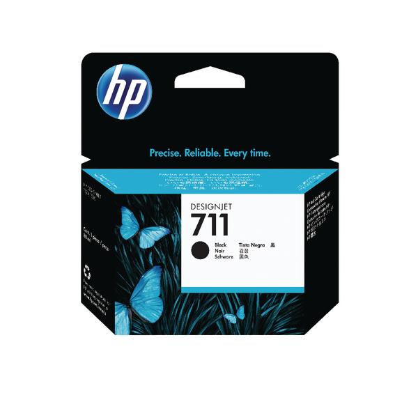 HP 711 Black Inkjet Cartridge (Standard Yield, 80ml) CZ133A
