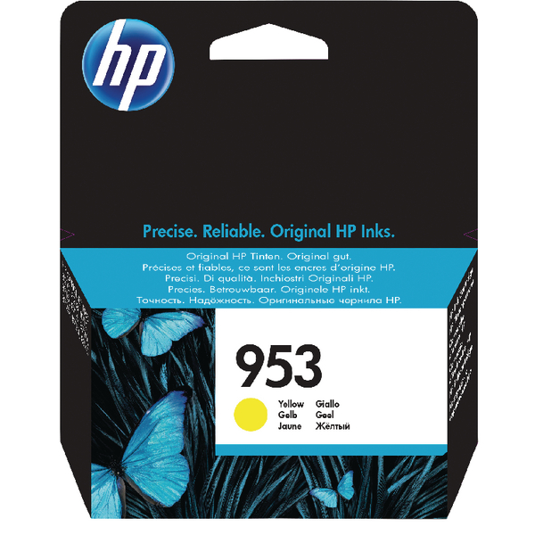 HP 953 Ink Yellow Cartridge (Standard Yield, 10ml, 700 Page Capacity) F6U14AE
