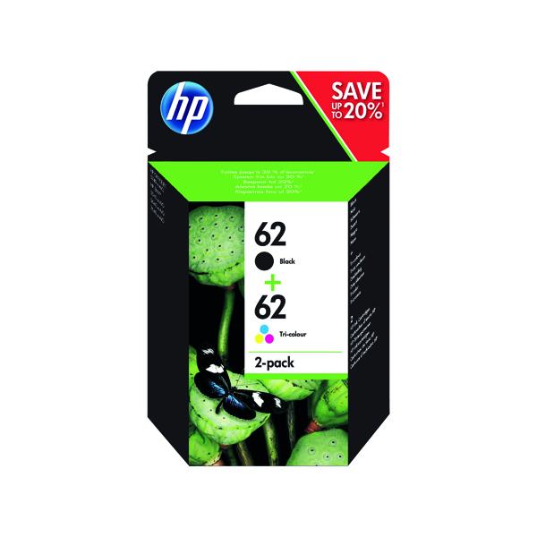 HP 62 Black /Colour Ink Cartridges (Pack of 2) N9J71AE