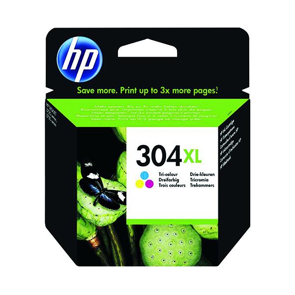 HP 304XL Ink Cartridge Tricolour N9K07AE