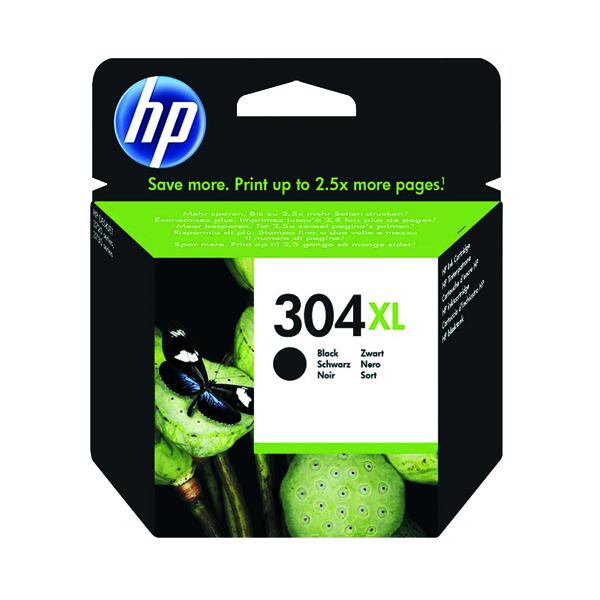 HP 304XL Black Ink Cartridge (High Yield, 300 Page Capacity) N9K08AE