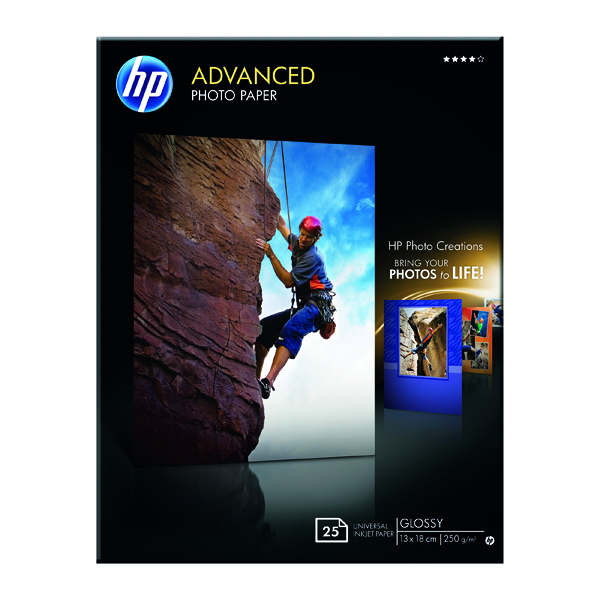 HP White 13x18cm Advanced Glossy Photo Paper (Pack of 25) Q8696A