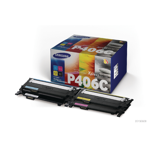 Samsung CLT-P406C 4-Pack CYMK Standard Yield Toner Cartridges (Pack of 4) SU375A