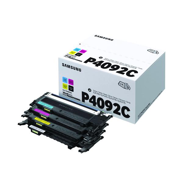 Samsung CLT-P4092C CYMK Standard Yield Toner Cartridges (Pack of 4) SU392A