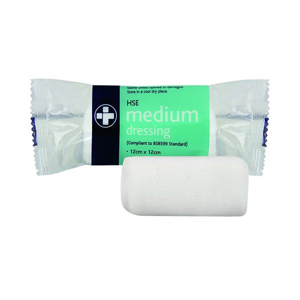 Reliance Medical HSE Sterile Dressing 120 x 120mm Medium (Pack of 10) 316