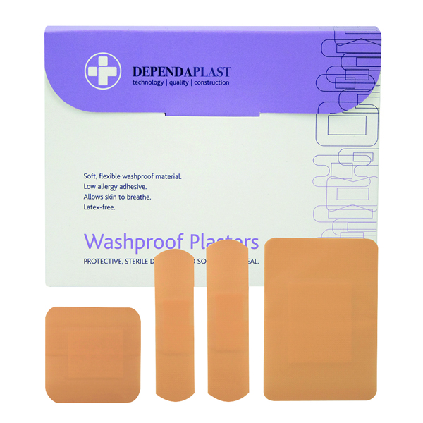 Reliance Medical Dependaplast Washproof Plasters (Pack of 100) 536