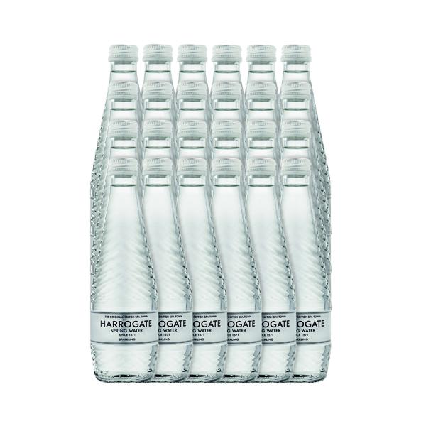Harrogate Sparkling Spring Water Glass Bottle 330ml (Pack of 24) G330242C