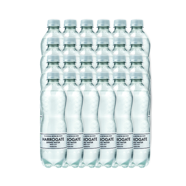 Harrogate Sparkling Spring Water 500ml Plastic Bottle (Pack of 24) G750121S