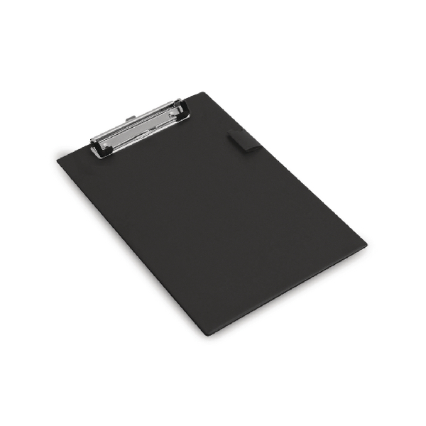 Rapesco Standard Clipboard PVC Retractable Hanging Hole A5 Black 1072