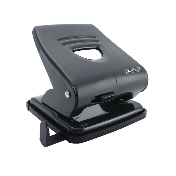 Rapesco 827 Two-Hole Punch Black PF827AB1