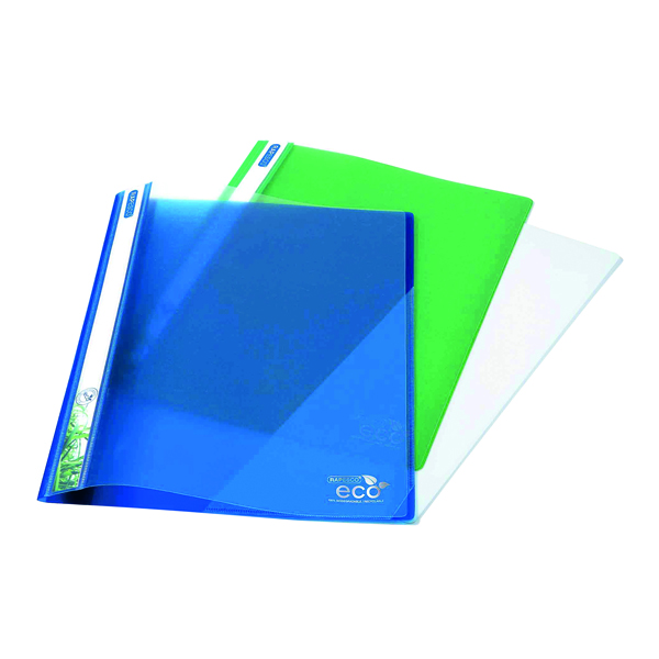 Rapesco Eco PP Report File A4 Asorted (Pack of 10) 1099