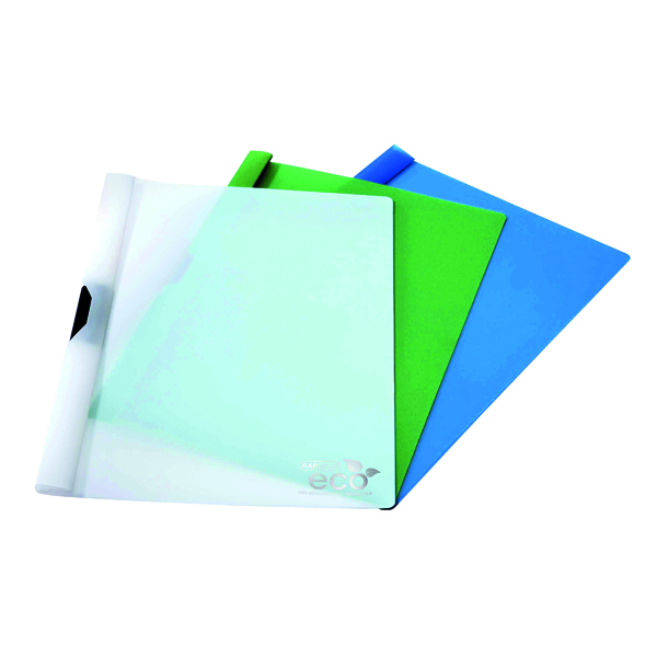 Rapesco Eco PP Clip File Assorted (Pack of 10) 1100
