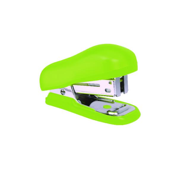 12 x- Rapesco Bug Mini Stapler Green (Uses standard 24/6mm and 26/6mm staples) 1411