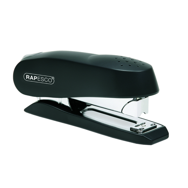 Rapesco Luna Half Strip Stapler Heavy Duty Black 0238