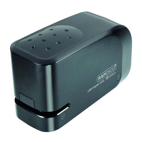 Rapesco 626EL USB Electric Stapler Capacity 15 Sheets Black 1454
