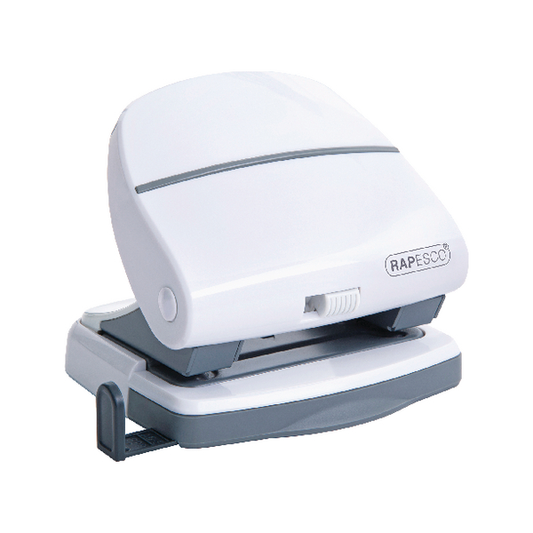 Rapesco P30 Hole Punch White (30 Sheet Capacity, All Metal Construction) 1274