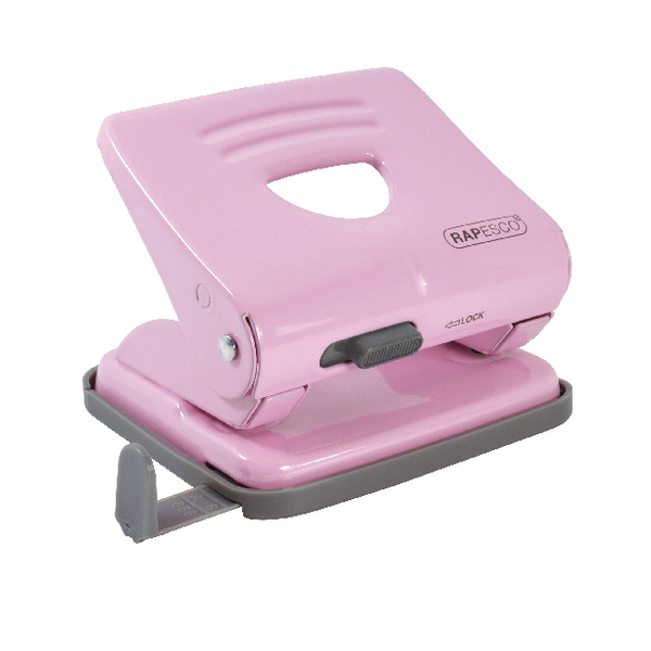 Rapesco 825 Two-Hole Metal Punch Candy Pink 1358
