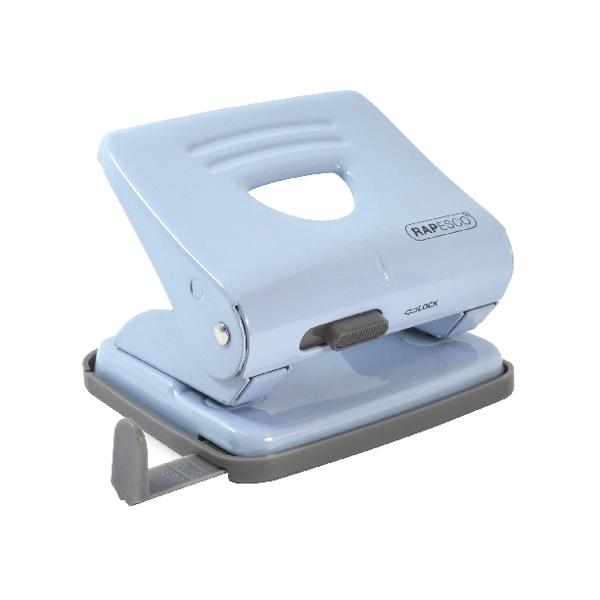 Rapesco 825 Two-Hole Metal Punch Powder Blue 1359