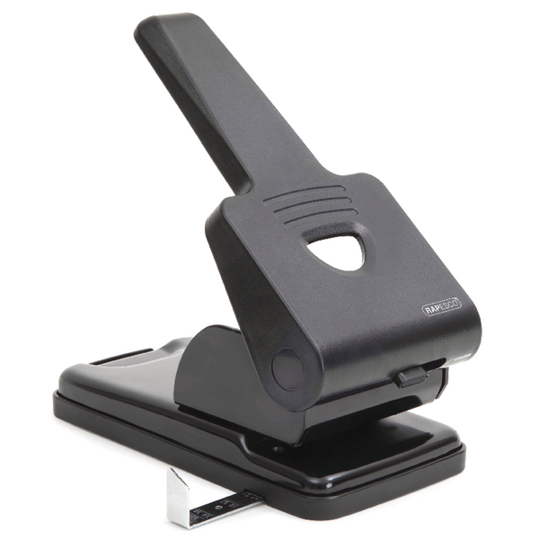 Rapesco 865-P Heavy Duty Two-Hole Punch Black PF865PB2