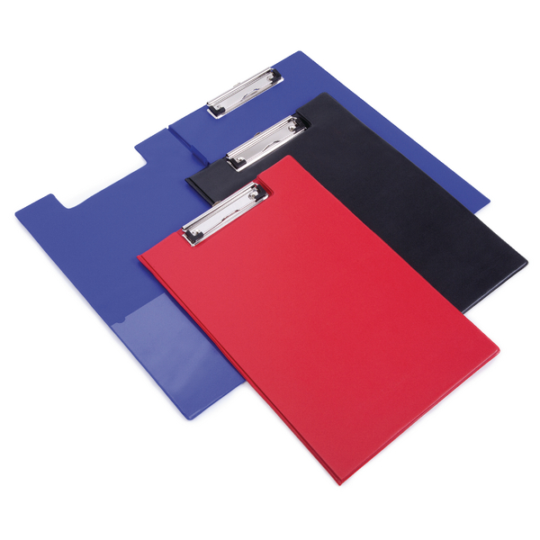 Rapesco Foldover Clipboard Foolscap Red (Secure clip with protective corners) VFDCB0R3