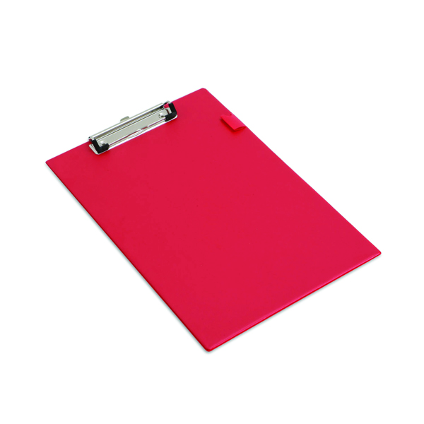 Rapesco Standard Clipboard PVC Foolscap Red VSTCBOR3
