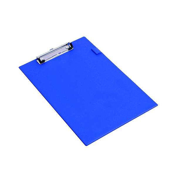 Rapesco Standard Clipboard PVC Foolscap Blue VSTCBOL3