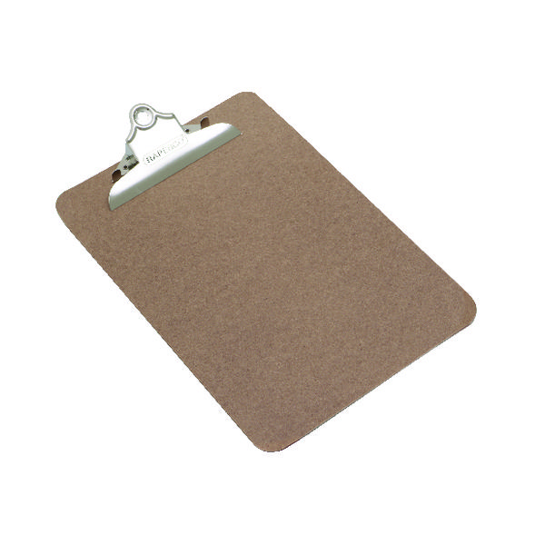 Rapesco Hardboard Clipboard Hanging Hole A5 1402