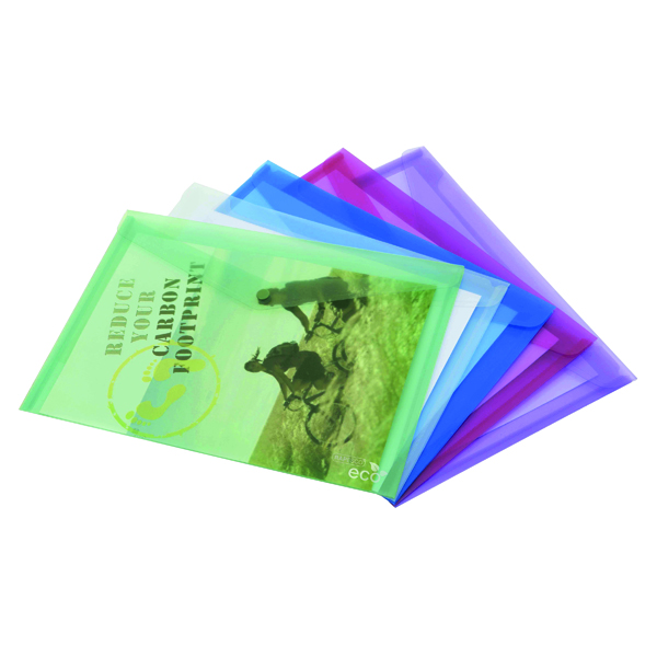 Rapesco Eco PP Popper Wallet A3 Assorted (Pack of 5) 1041